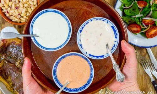 Tre enkla såser till kött som är snabba, billiga och lättlagade.