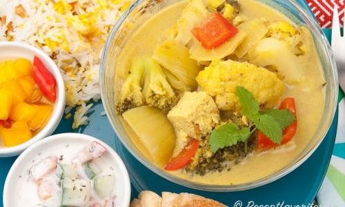 Vegansk currygryta med hemgjord curry
