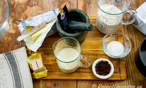 Ingredienser till veganska lussekatter