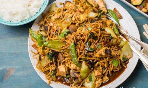 Vegetarisk Chow Mein