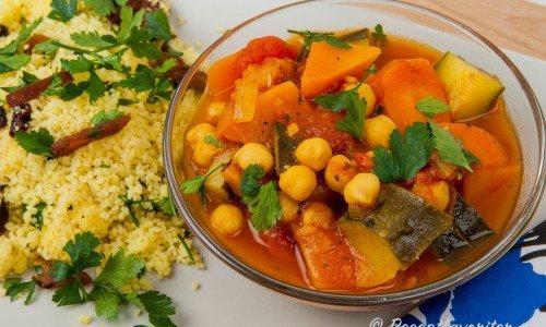 Vegetarisk gryta från Marocko