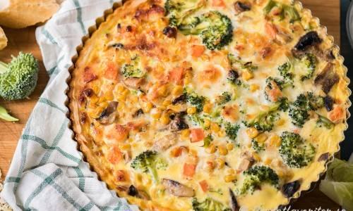 vegetarisk paj broccoli