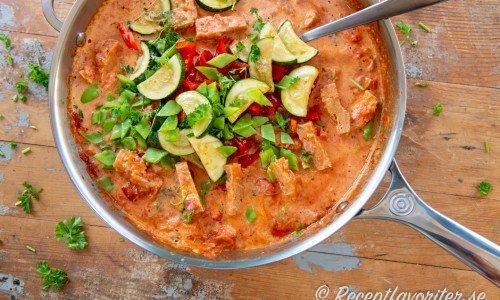 Vegetariska recept som stroganoff med soja