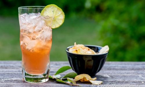 En iskall Vodka Cranberry med lime