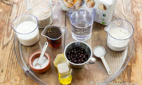 Ingredienser till yoghurtfrallorna