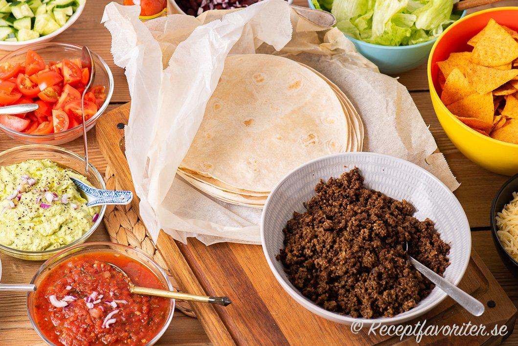 tacos recept tillbehör