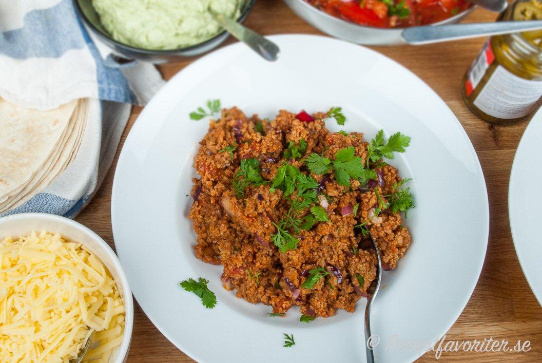 recept klassisk taco med köttfärs