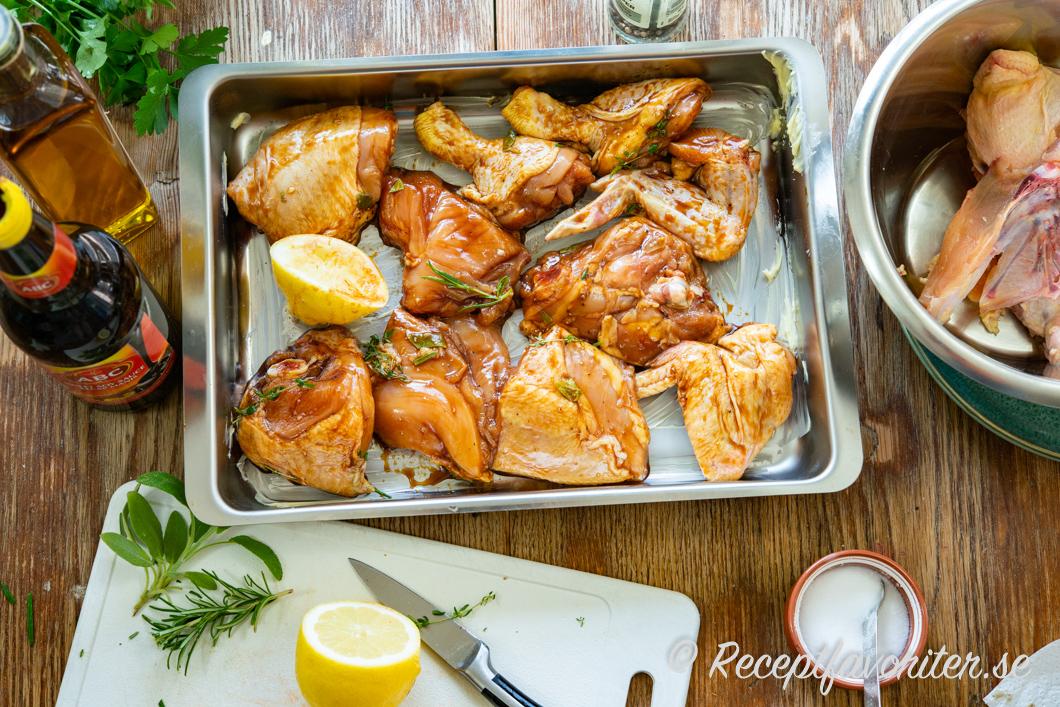 ugnsstekt kycklingfile låg temperatur