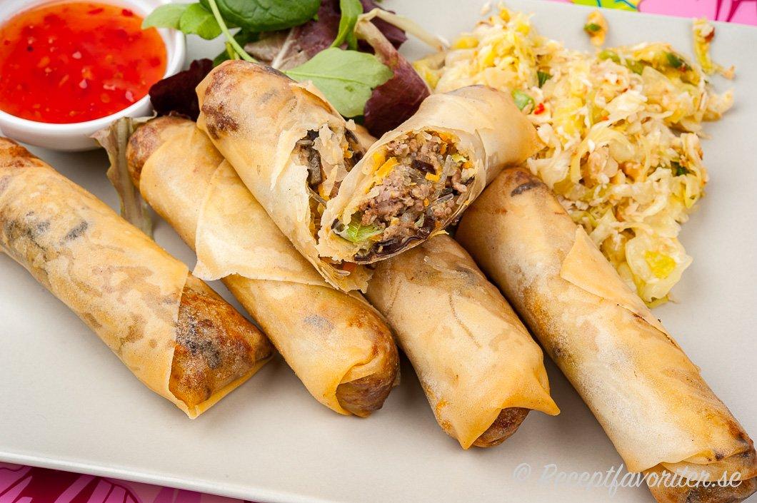thailändska vårrullar recept