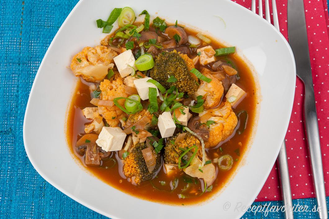vegansk gryta tofu