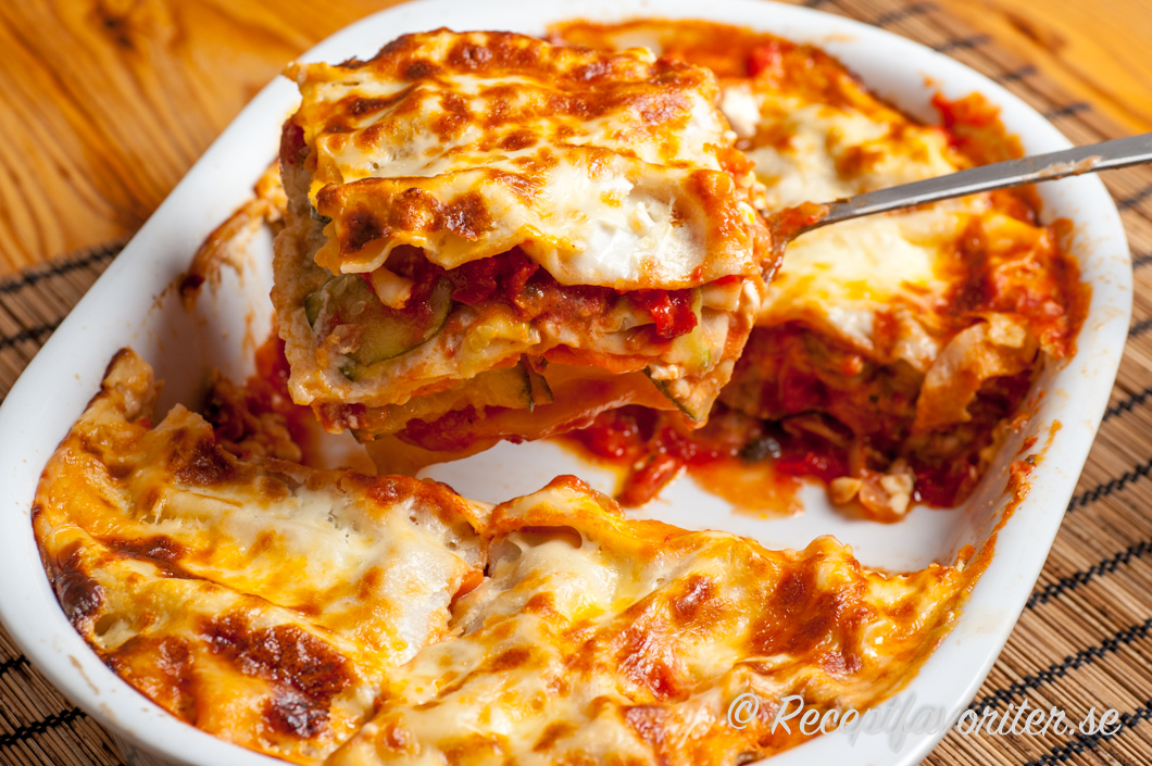 lasagne med zucchini plattor