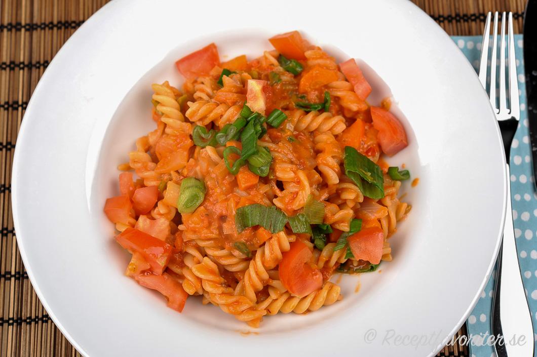 pasta vegetarisk sås