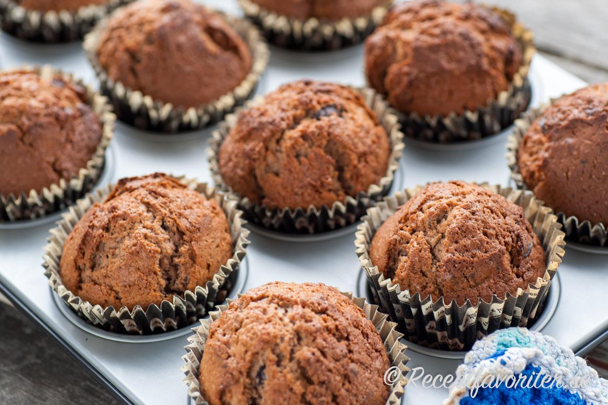 Chokladmuffins i panna