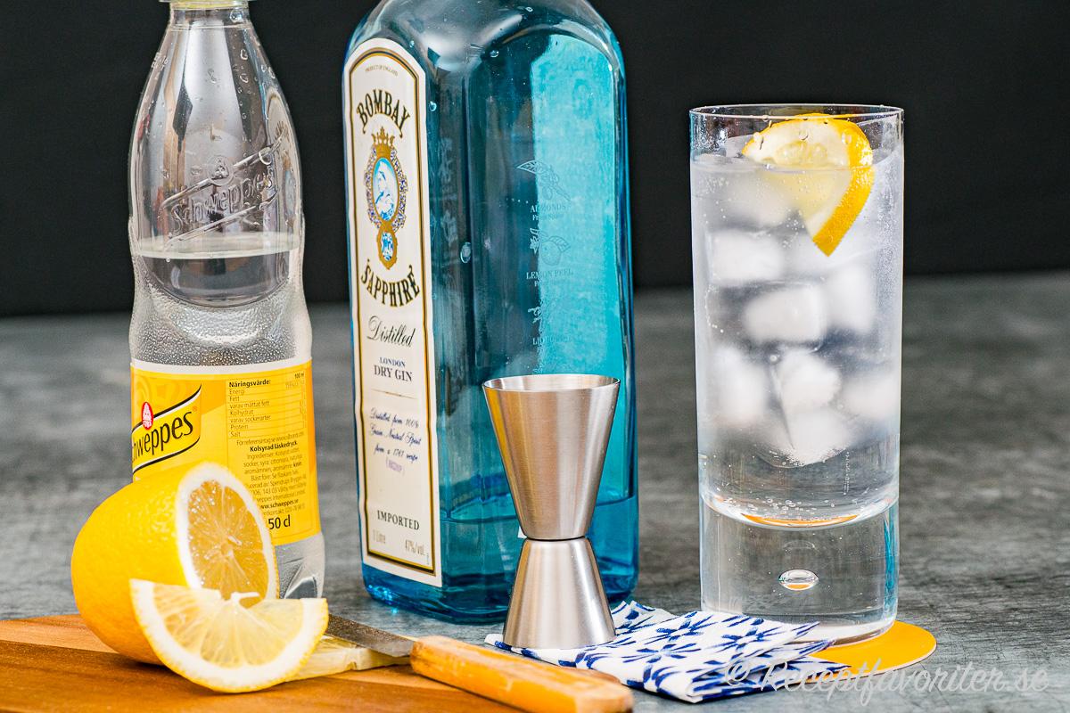 Gin&tonic är lätt att göra men kan varieras med annan tonic, val av gin och citron eller lime samt val av glas som highballglas eller kupa.