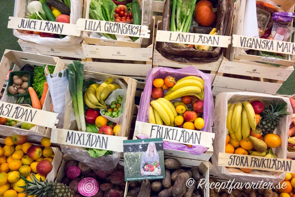 Grönsakslådor från Mossagården