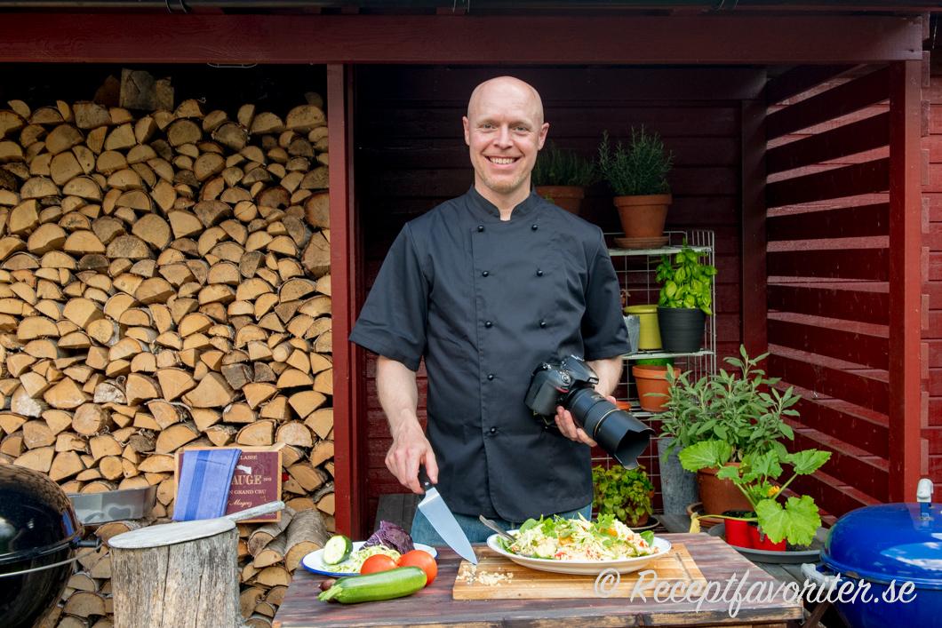 Henrik Mattsson, kock och skapare av Receptfavoriter.se