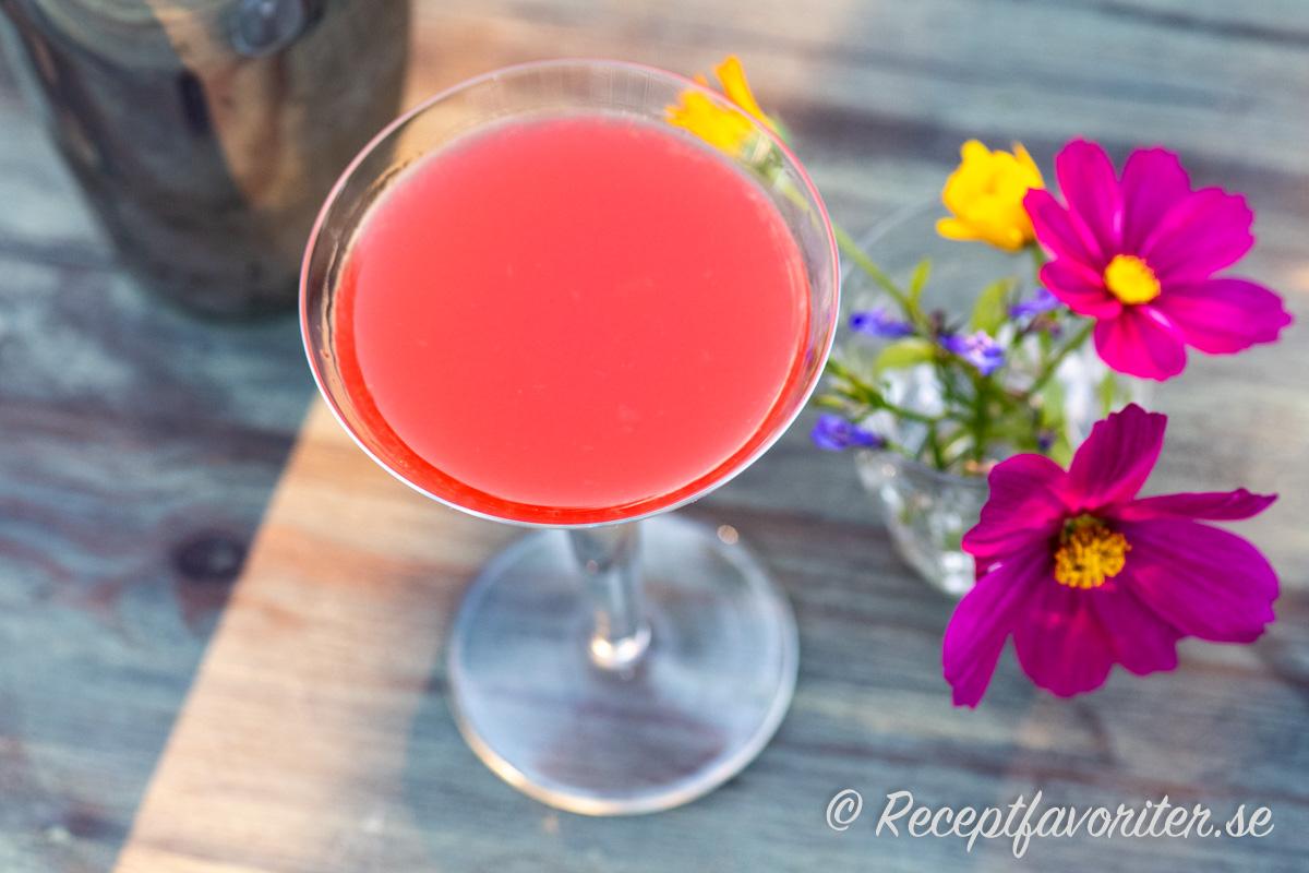 Monkey Gland är en färgglad cocktail med absint, gin, apelsinjuice samt röd färg från Grenadine.