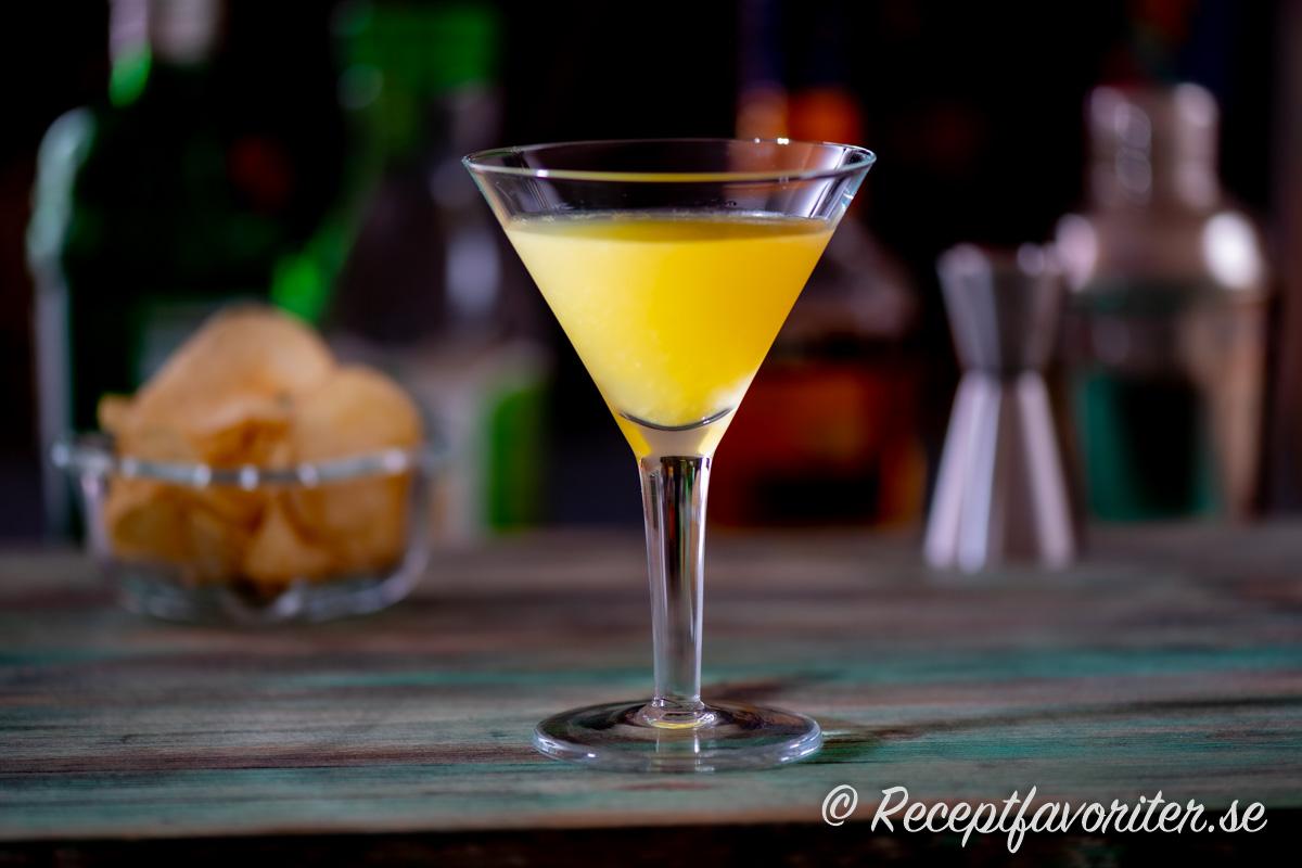 Paradise cocktail i martiniglas