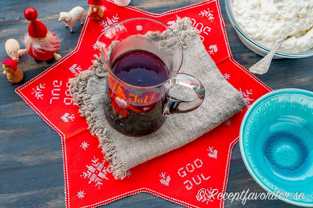 Saftsås serverad till jul med Ris ala Malta
