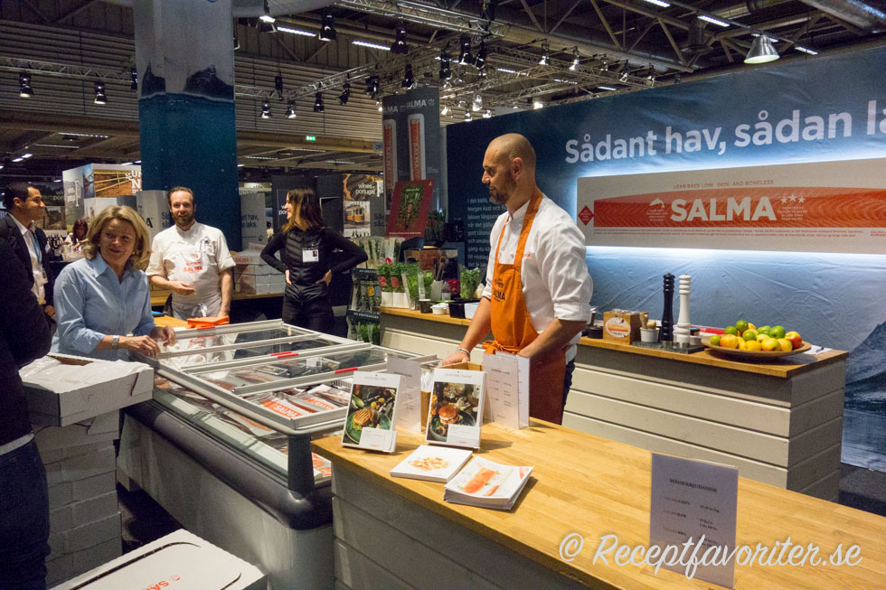 Salma lax på Stockholm food and wine