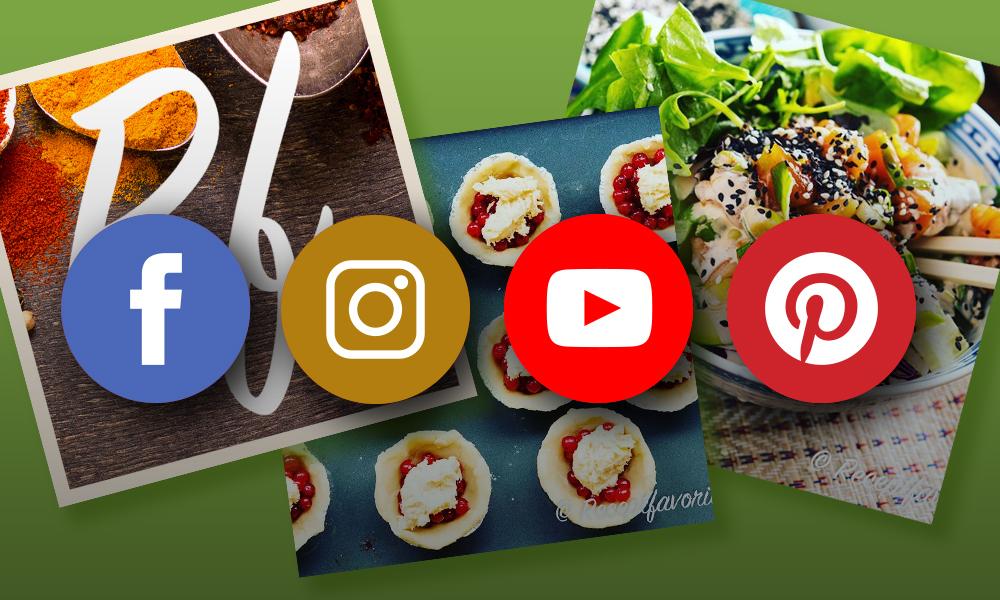 Följ Receptfavoriter på sociala medier