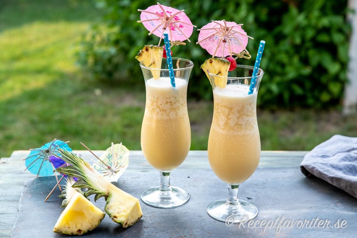 Virgin Colada med cream of coconut, ananasjuice, färsk ananas och lime.