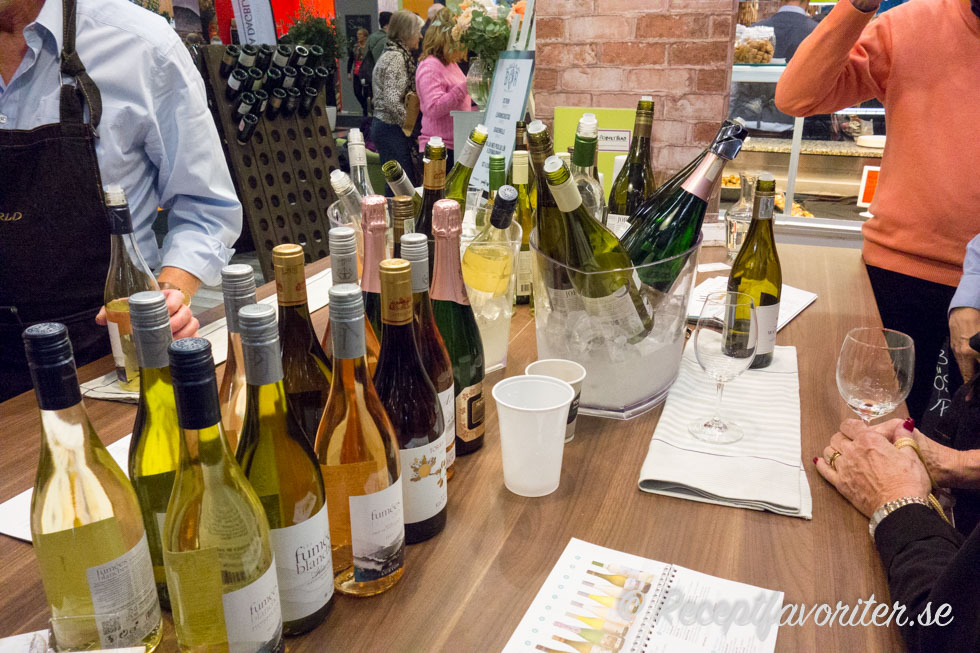 Vita viner och mingel